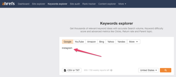 instagram keyword tool
