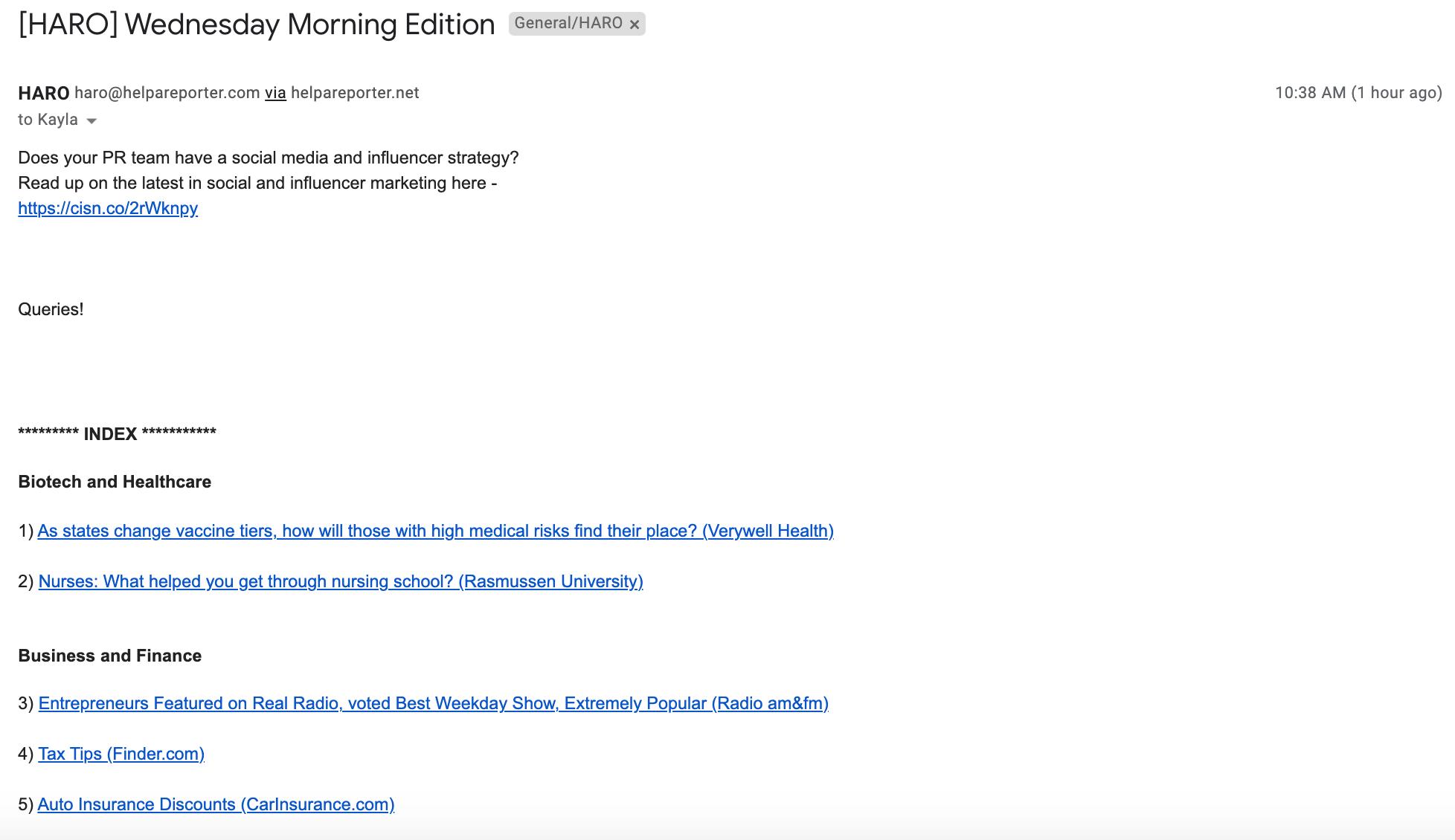 haro-email-notification